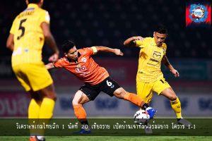 วิเคราะห์เกมไทยลีก 1 นัดที่20 เชียงราย เปิดบ้านเจ๊าทีมฟอร์มอย่าง โคราช 1-1 -sportintrends